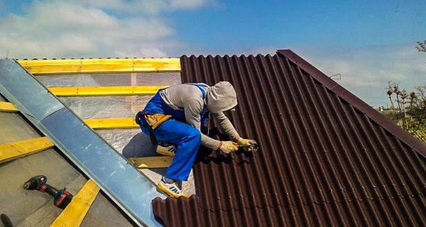 покрытие крыши профнастилом