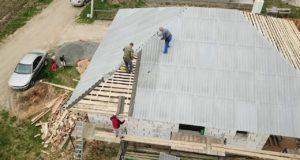 снять шифер с крыши